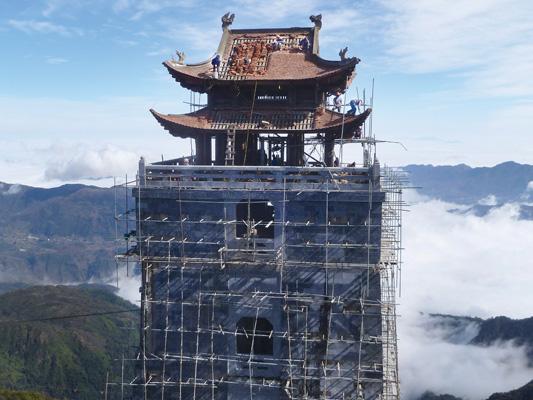 Dappere bouwvakkers in Vietnam