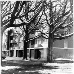 Sneeuwflat Brabantpark Breda / analoge dokaprint (site = scan dokaprint)